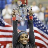 Best of the best: Tennis star Serena Williams, shown after winning the 2013 U.S. Open, is AP's Female Athlete of the Year for a third time. | AP