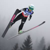 Full flight: Teenage ski jumper Sara Takanashi is seen as one of Japan's best hopes for a gold medal at the Sochi Olympics. | AFP-JIJI