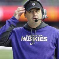Heading home: Steve Sarkisian is stepping down as coach of the University of Washington after five seasons to become the boss at Southern California. | AP