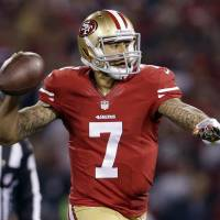 Peaking at right time: Colin Kaepernick and the San Francisco 49ers are on a five-game winning streak heading into the final game of the regular season on Sunday. | AP