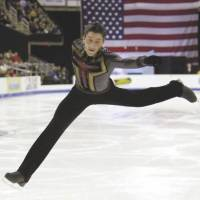Still hurting: Defending Olympic champion Evan Lysacek will miss the chance to defend his title at the upcoming Sochi Games due to a hip injury. | AP