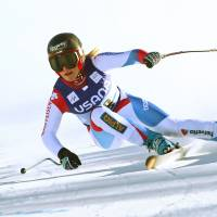 Wins again: Switzerland's Lara Gut skis to victory in a World Cup super-G on Saturday in Beaver Creek, Colorado. Gut won in a time of 1 minute, 18.42 seconds. | AP