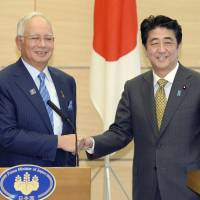 Malaysia's Najib, Abe discuss China air zone