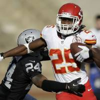 Aloha: Chiefs running back Jamaal Charles is one of eight Kansas City players selected to the 2014 Pro Bowl. | AP