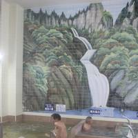Prepping for the soak: Hasunuma Onsen, a public bathhouse in Tokyo's Ota Ward, makes use of a guidance manual on bathing etiquette as it hopes to welcome more foreign visitors. | KYODO