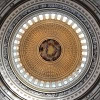 World above: The dome is seen from the rotunda of the U.S. Capitol on Dec. 19. | AFP-JIJI