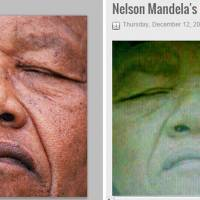 Hoax photo of Mandela after death brings anger