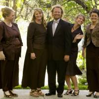 Happy family: Kody Brown is seen with his wives (from left) Janelle, Christine, Meri and Robyn in a promotional photo for TLC's reality TV show, 'Sister Wives.' | AP