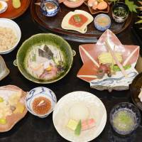 Food for the soul: A file photo shows varieties of 'washoku' Japanese dishes served at Yonemura in Tokyo's Ginza district. Traditional Japanese cuisine was added to UNESCO's Intangible Cultural Heritage list Wednesday. | KYODO