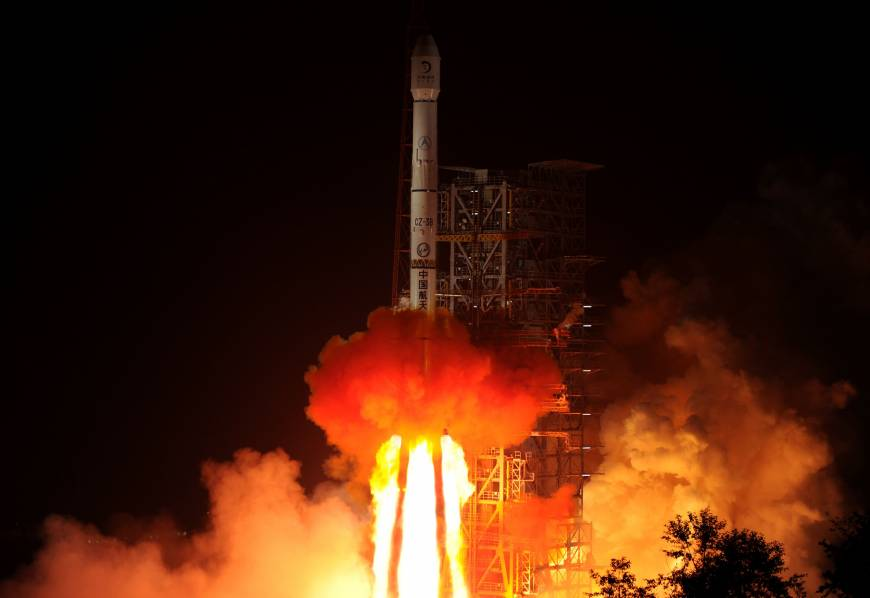 China launches its first moon rover mission