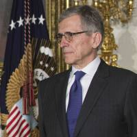 Venture capitalist Tom Wheeler, U.S. President Barack Obama's nominee to head the Federal Communications Commission, attends his nomination announcement in the East Room of the White House on May 1. | AFP-JIJI