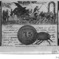 Noteworthless: This Library of Congress illustration shows a parody of the often worthless fractional currencies, or 'shinplasters,' issued by banks, businesses and municipalities in lieu of coin. These fractional notes proliferated during the Panic of 1837. | THE WASHINGTON POST