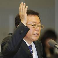 Under fire: Tokyo Gov. Naoki Inose takes questions from a Tokyo Metropolitan Assembly committee on Monday. | KYODO