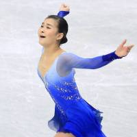 Spirited performance: Kanako Murakami scores 202.52 points to finish second at nationals. | KYODO