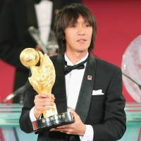 Historic feat: Shunsuke Nakamura of Yokohama F. Marinos is the first two-time J.League Player of the Year. | KYODO