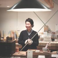 Smooth work: Masuko Unayama talks about her key-tray design, which was manufactured into a product for Crafted For Lexus by metalware craftspeople using traditional techniques. | CAMERON ALLAN MCKEAN