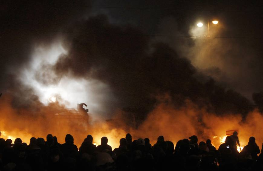 Protesters storm governors' offices across west Ukraine