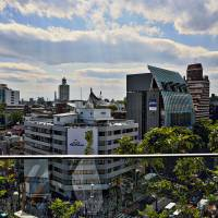 Day-trippers: Omotesando, seen from Starbucks' deck at Omohara Tokyu Plaza, offers plenty of attractions for families. | JASON JENKINS