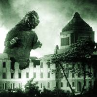 Tokyo rampage: The plastic Godzilla suit that was used in the original movie weighed 60 kg. | KYODO