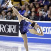 Not good enough: Mirai Nagasu was left off the United States team for the Sochi Olympics despite finishing in third place at the national championships last week in Boston.   AP