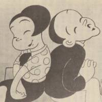 Proto anime: A still from Japan's first animated talkie (above), the 1932 'Power and Women in Society (Chikara to Onna no Yo no Naka)' by Kenzo Masaoka. | WIKI COMMONS