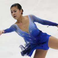 Bring on Sochi: Kanako Murakami performs on Saturday.AfP-jiji