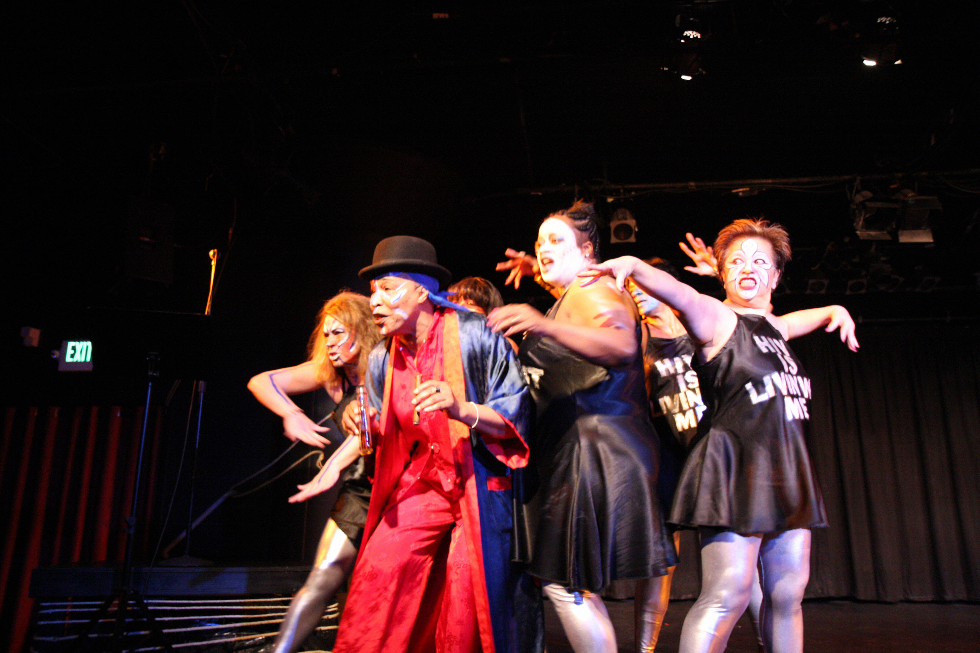 Center stage: Members of The Medea Project: Theater for Incarcerated Women perform 'Dancing with the Clown of Love' in March 2010 in San Francisco in this photo taken from Kaori Sakagami's new documentary, 'Talk Back Out Loud.'   COURTESY OF KAORI SAKAGAMI/KYODO