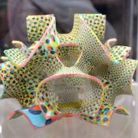 Fine print: A confection made by a 3D Systems ChefJet Pro food printer is displayed at the 2014 International CES gadget show in Las Vegas on Thursday. | AFP-JIJI