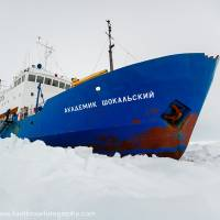 Freeze-frame: The MV Akademik Shokalskiy lies trapped in ice off eastern Antarctica in this Dec. 27 image released by Australia's University of New South Wales and taken by expedition doctor Andrew Peacock. Its crew of 74 had been awaiting rescue since Dec. 24. The scientists and tourists on board had been following the Antarctic path of Australian explorer Douglas Mawson, who led his country's first large-scale scientific expedition to the frozen continent from 1911 to 1914. | AFP-JIJI