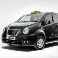 New black hack: Nissan shows off the design of its new London taxi Monday. | NISSAN GB/AFP-JIJI