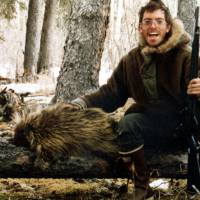 Wild ways: Chris McCandless, 24, poses for a self-portrait with a porcupine in an undated photo. McCandless, who hiked into the Alaska wilderness in April 1992, died in there in late August of that year, apparently poisoned by wild seeds that left him unable to fully metabolize what little food he had. | AP