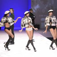 Strutting their stuff: Models show off underwear creations at the international exhibition of lingerie on Saturday in Paris. | AFP-JIJI