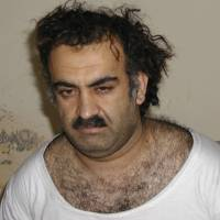 Before and after: Khalid Sheikh Mohammed, the alleged mastermind of the Sept. 11, 2001, attacks is seen shortly after his capture in Pakistan on March 1, 2003. Right: Mohammed is seen in detention at Guantanamo Bay, Cuba, in July 2009. | AP