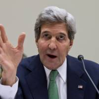 Gesture of trust?: U.S. Secretary of State John Kerry testifies before the House Foreign Affairs Committee in Washington in December. | AP