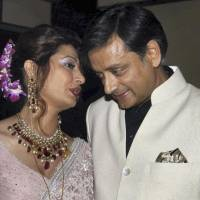 Open marriage?: Former Indian Junior Foreign Minister Shashi Tharoor listens to his wife, Sunanda Pushkar, at their wedding reception in New Delhi on Sept. 4, 2010. | AP