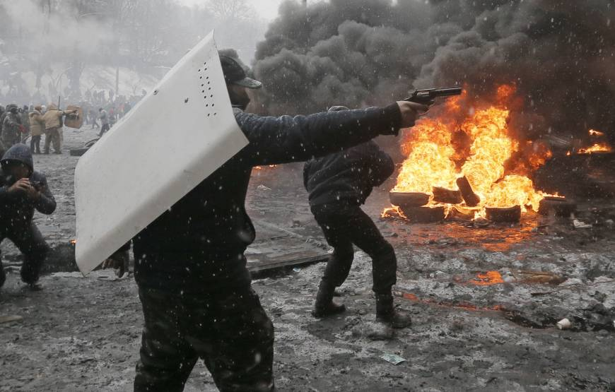Five dead as Ukraine police launch assault on protesters
