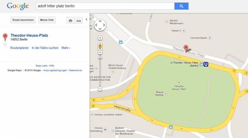 Google apologizes for 'Hitler' name on maps
