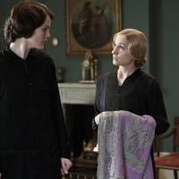 Drama queens: Michelle Dockery as Lady Mary Crawley (left), and Joanne Froggatt as Anna Bates in scene from the fourth season of 'Downton Abbey,' in a photo released by PBS and Carnival Film and Television Limited. | AP