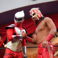 Wrestling with cosplay: The Rollercoaster with Asakusa Kid.