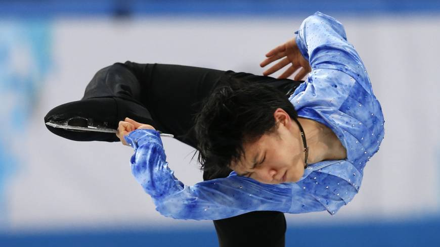 Yuzuru Hanyu performs his short program during the men's portion of the  team figure skating competition at the Iceberg Skating Palace on Thursday at the 2014 Winter Olympics in Sochi, Russia.