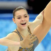 Russia's Adelina Sotnikova performs her free skate on Thursday. | AFP-JIJI