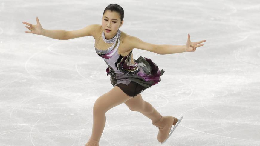 Kanako Murakami of Japan competes in the women's short program figure skating competition at the Iceberg Skating Palace during the 2014 Winter Olympics, Wednesday, Feb. 19, 2014, in Sochi, Russia.