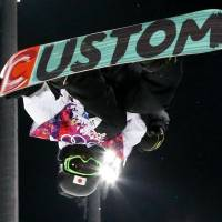 Boys to men: 15-year-old Ayumu Hirano, Japan's youngest Olympian, shows what he's made of in the men's snowboard halfpipe final of the 2014 Sochi Olympics.  | KYODO
