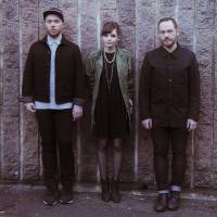 Religious expression: Bandmates Martin Doherty, Lauren Mayberry and Iain Cook released Chrvches' debut album, 'The Bones of What You Believe,' to critical acclaim in September.