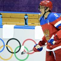 Fan favorite: Russia's Alex Ovechkin says it's a 'huge honor for me to represent my country.'   AFP-JIJI