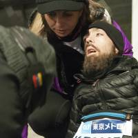 Breaking point: Melamed made it as far as the 31st kilometer of the 42 km Tokyo course before he and his team decided to stop for his own safety. | NATALIE HOWARD