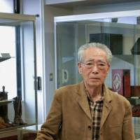 Minori Inagawa, a retired shoemaker, now looks after the Asakusa Industrial Leather Museum. | CAMERON ALLAN MCKEAN