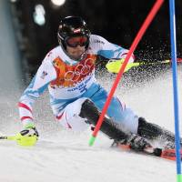 Special vintage: Austria's Mario Matt competes on his way to the gold medal in the men's slalom on Saturday. | AP