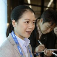 Smell the roses: Akiko Suzuki  plans to leave it all on the ice in her last Olympics. | KYODO