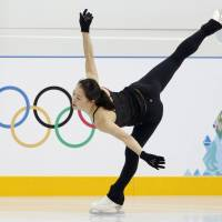 Swan song: Akiko Suzuki, who skated in the 2010 Vancouver Olympics, says the Sochi Games 'means a lot to me.'  | KYODO